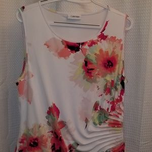 Calvin Klein sleeveless blouse L